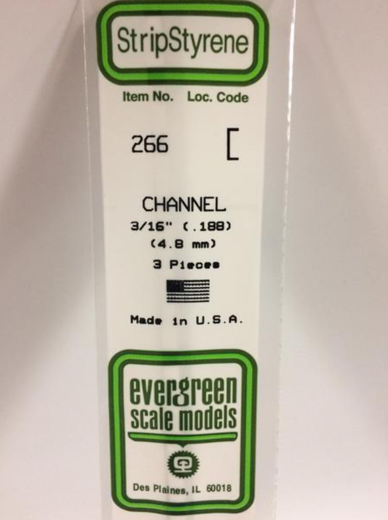 "Evergreen 266 3/16"" Channel"