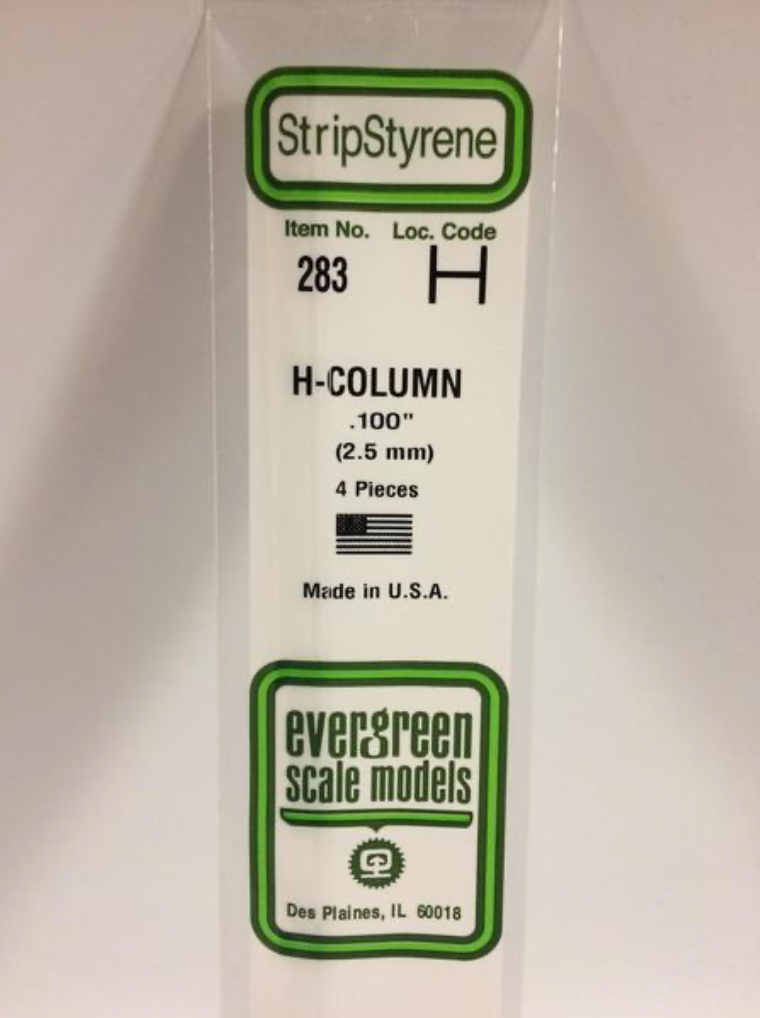 "Evergreen 283 .100"" H Column"