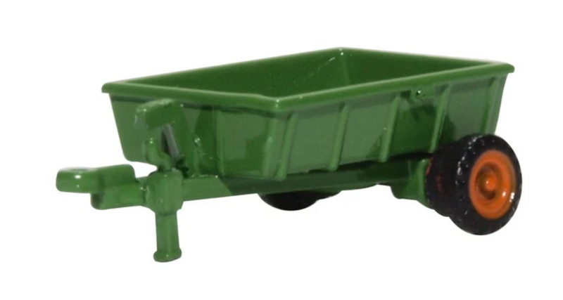 Oxford Diecast N Green Farm Trailer