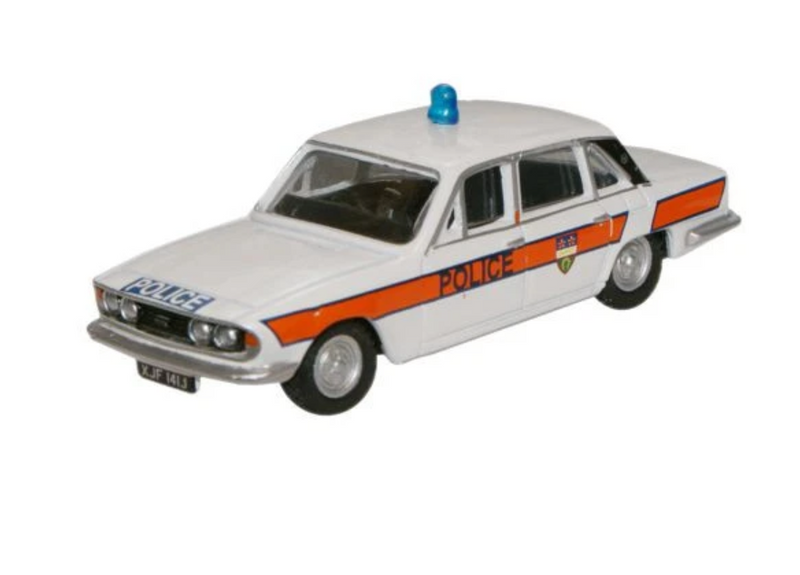Oxford Diecast OO Triumph 2500 Leicestershire Constabulary