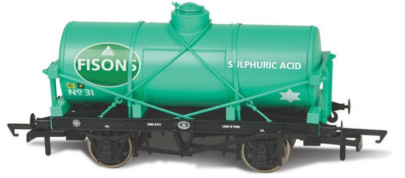 Oxford Rail 12t Tank Wagon Fisons Sulphuric Acid - 76TK2005