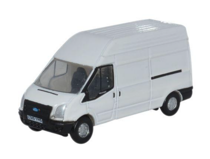 Oxford Diecast N White Transit LWB High