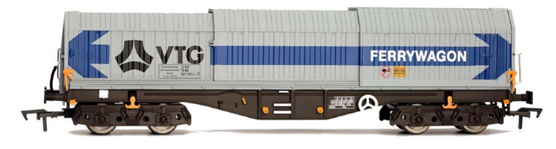 Dapol OO Telescopic Hood Wagon Tiphook Rail Blue/Grey 589 - 4F-039-009