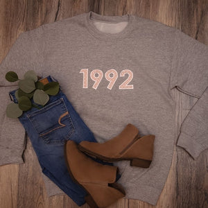 Personalized Birthday Sweatshirt with Birth Year for Women