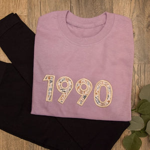 Personalized Birthday T-Shirt with Birth Year for Women