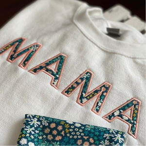 Personalized Mama Shirt in Applique for Women