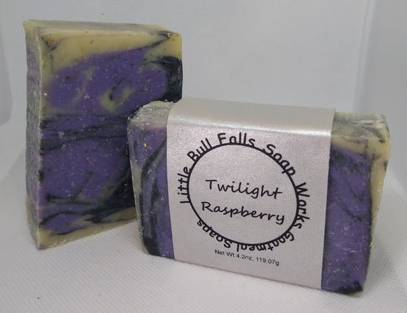 Twilight Raspberry Goat Milk Soap