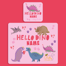 Load image into Gallery viewer, Placemat & Coaster Set - Dinosaur