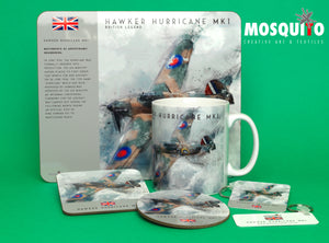 Coaster & Placemat Set - Hawker Hurricane
