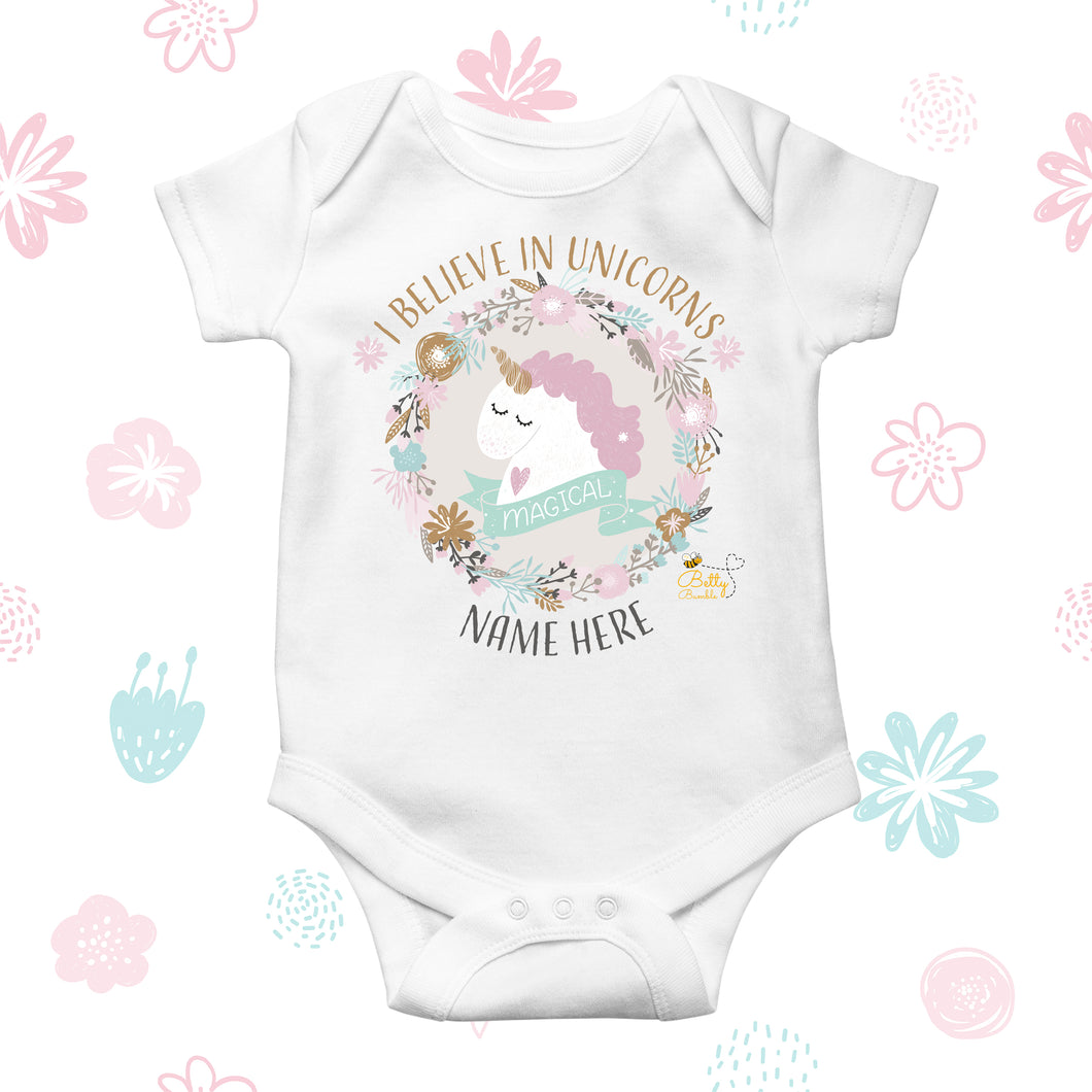 Babygrow - (Personalised) Unicorn
