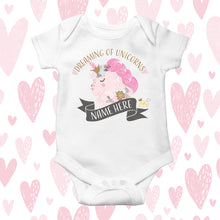 Load image into Gallery viewer, Babygrow - (Personalised) Unicorn