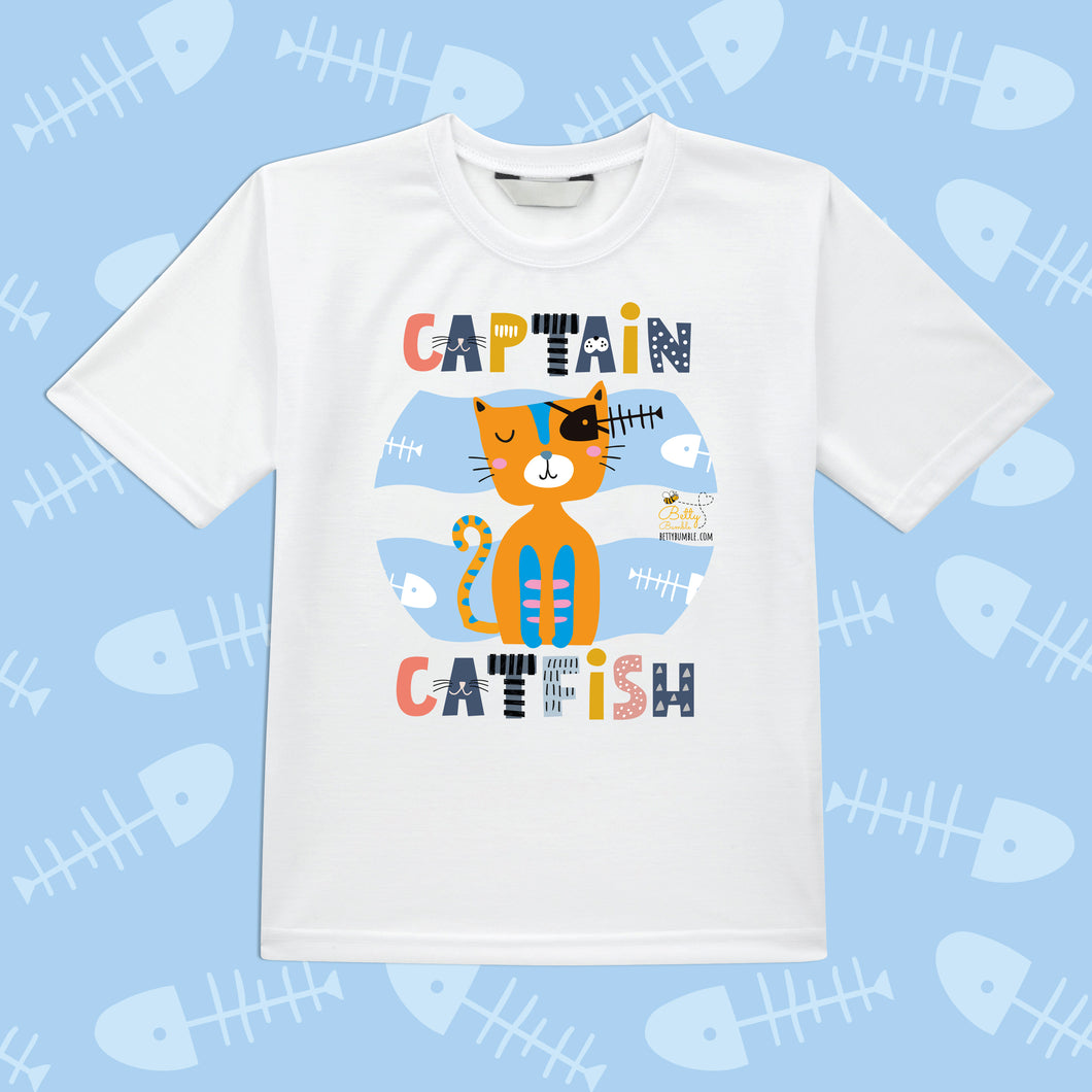 Kids T-Shirt - Captain Catfish
