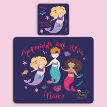 Load image into Gallery viewer, Placemat & Coaster Set - Mermaids