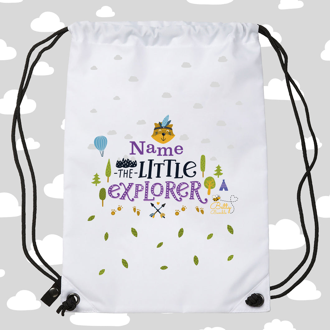 Drawstring / PE Bag - (Personalised) Explorer