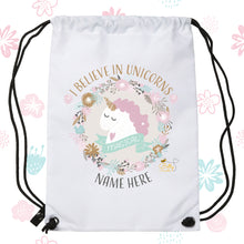 Load image into Gallery viewer, Drawstring / PE Bag - (Personalised) Unicorns