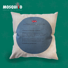 Load image into Gallery viewer, Cushion Cover - Supermarine Spitfire