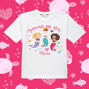Kids T-Shirt (Personalised) - Mermaid