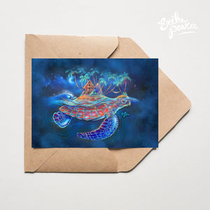 Turtle Dream Island Greeting Card