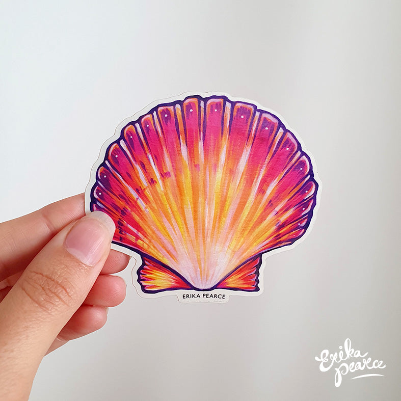 Scallop Sticker