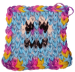 blue rainbow border face