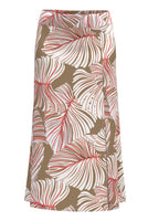 61001 - midi travel skirt leaf prt