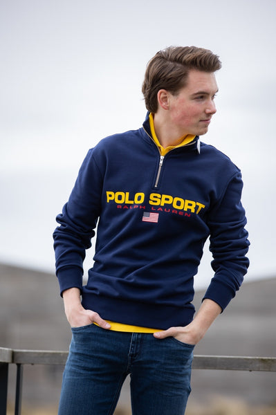 710 835766 - polo sport fleece sweat 1/2 zip