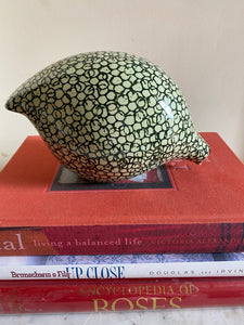 French ceramic quail Green & pale green