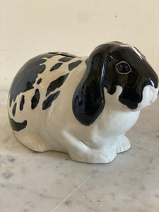 Lop eared bunny ceramic money box