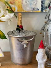 Load image into Gallery viewer, Silver bull ice bucket