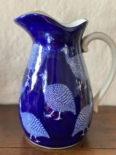 Load image into Gallery viewer, Blue Guinea fowl jug
