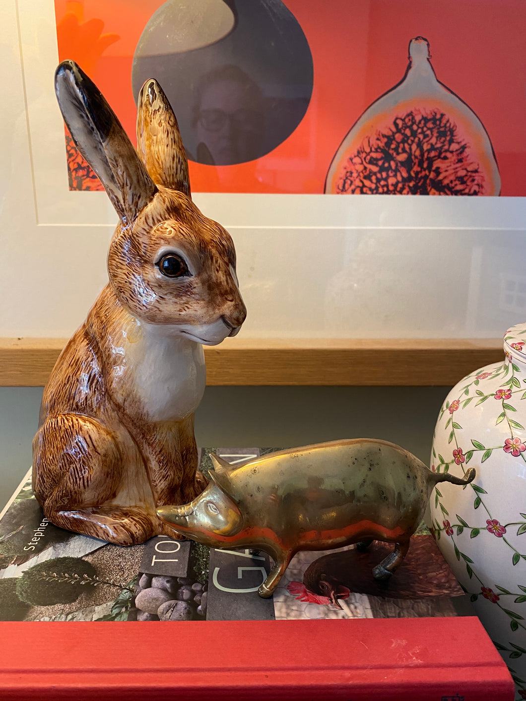 Ceramic porcelain Hare money box