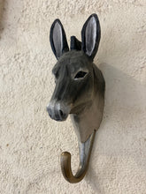 Load image into Gallery viewer, Wooden animal hook - donkey