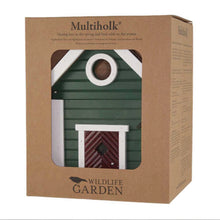 Load image into Gallery viewer, Bird nesting/ feeding box GREEN