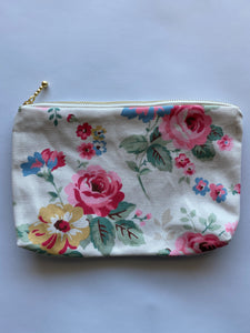 White floral Make up purse