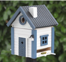 Load image into Gallery viewer, Bird Nesting box - white & blue