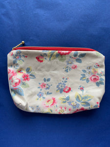 Floral Makeup Bag or Small Purse - Floral