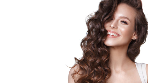 pk24 essentials - facial skin care products showing beautiful woman smiling