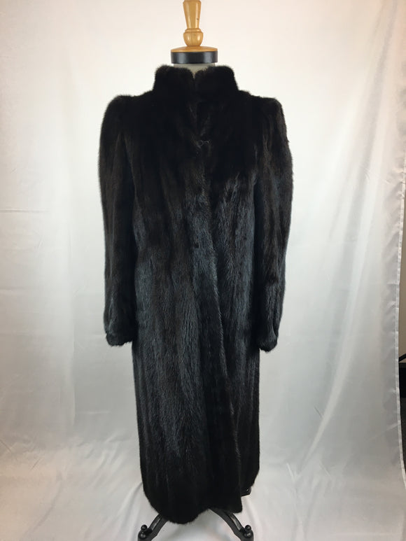 Fully Stranded Black Mink Coat by Randolf Alexander