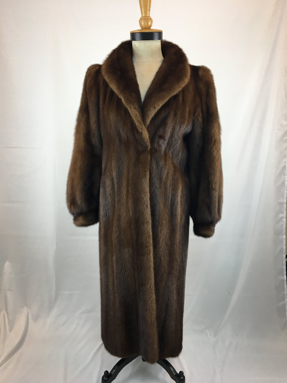 Fully Stranded Lunamaraine Mink Coat by The House Of Minks