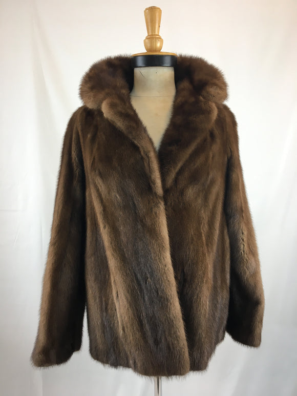 Stranded Natural Demi-Buff Mink Jacket By Hodders