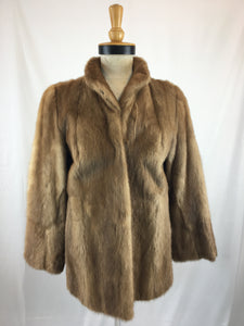 Natural Autumn Haze Mink Jacket By Feitels