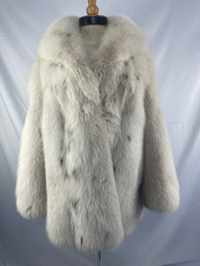 Lynx Dyed Shadow Fox Jacket By Fourrures Du Nord