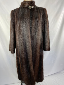 Fully Stranded Dark Brown Dyed Beaver Coat