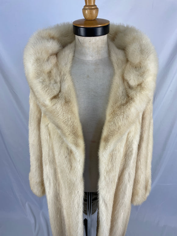 Fully Stranded Natural Palomino Mink Coat