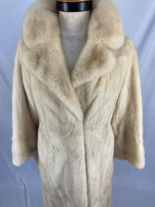 Vintage Natural Pearl Mink Coat