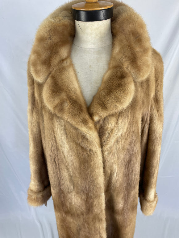 1970s Natural Autumn Haze Mink Coat By Premier