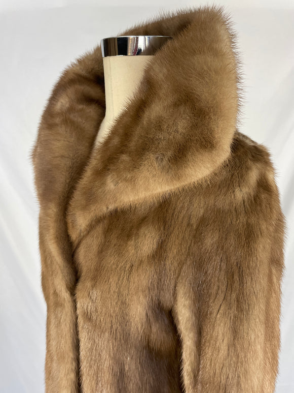 Fully Stranded Natural Autumn Haze Mink Coat by Peter Dimiropoulos