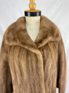 Fully Stranded Natural Autumn Haze Saga Mink Coat by Ross