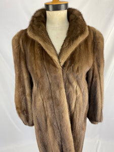 Fully Stranded Natural Taupe Coat by Rockler Furs