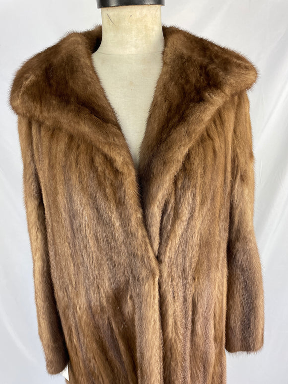 Fully Stranded Natural Demi-buff Mink Coat By Marcus Of London
